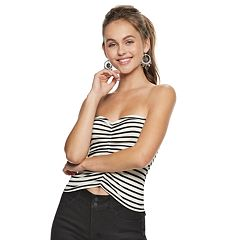 Juniors' Candie's® Striped Ruched Tube Top
