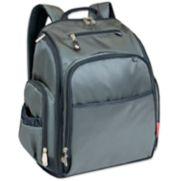 Fisher-Price Factfinder Super Cooler Grey Backpack Diaper Bag