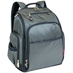 Fisher-Price Factfinder Super Cooler Grey Backpack Diaper Bag