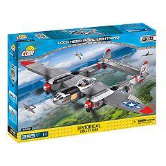 COBI Small Army World War II Lockheed P-38 Lightning Airplane 395-Piece Construction Blocks Building Kit