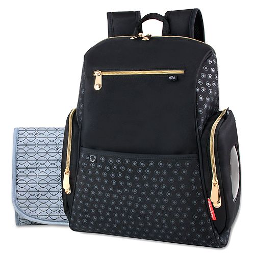 Fisher Price Black Backpack Diaper Bag