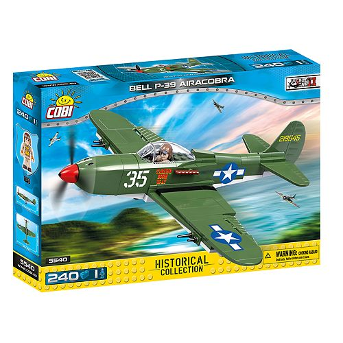 COBI Small Army World War II Bell P-39 Airacobra Airplane 240-Piece Construction Blocks Building Kit