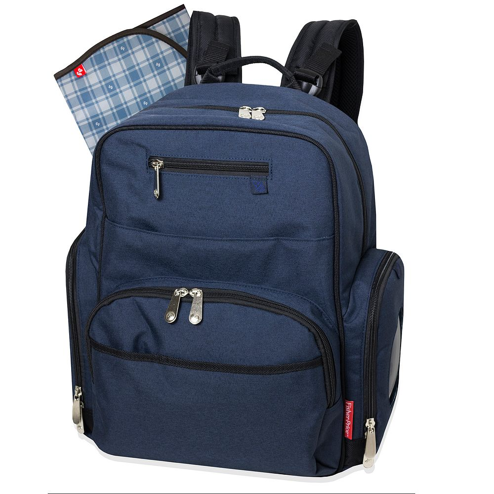Fisher-Price Blue Denim Deluxe Backpack Diaper Bag