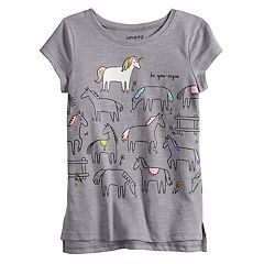 Girls 4-12 Jumping Beans® Slubbed Graphic Tee