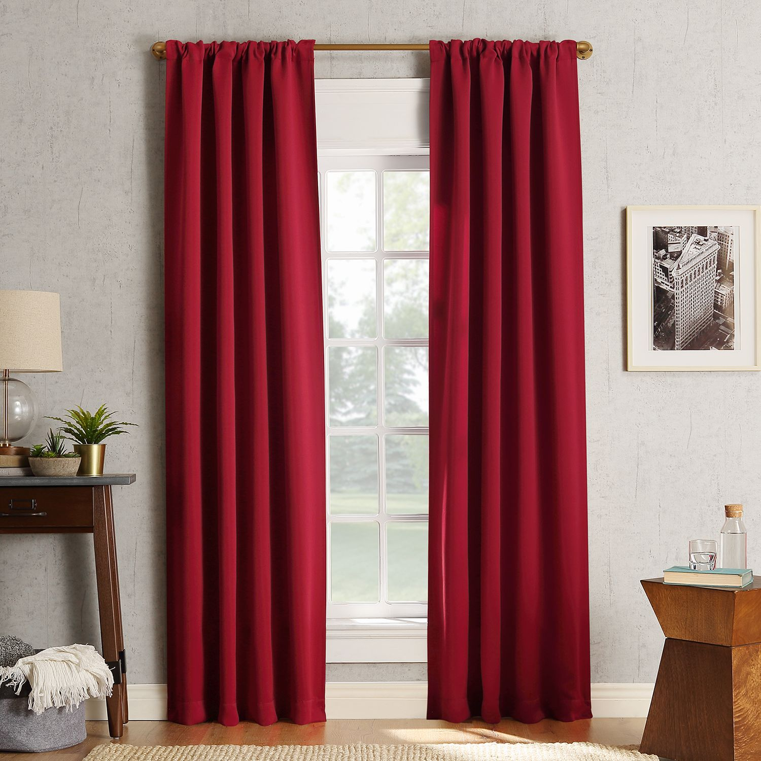 Charmant Sun Zero 2 Pack Ludlow Blackout Window Curtain