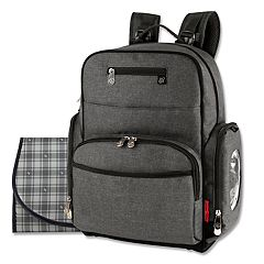 Fisher Price Gray Backpack Diaper Bag