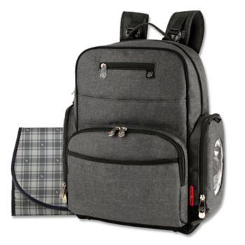 Fisher-Price Gray Backpack Diaper Bag
