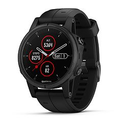 Garmin fenix 5S Plus Multi-Sport GPS Smartwatch (Sapphire Black with Black Band)