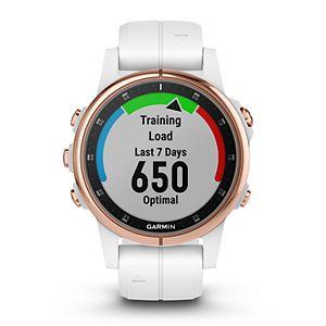 Garmin fenix 5S Plus Multi-Sport GPS Smartwatch (Sapphire Rose Goldtone with Carrara White Band)
