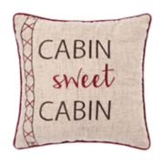 "C&F Home Rockwell ""Cabin Sweet Cabin"" Throw Pillow"