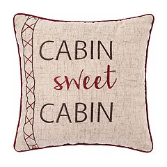 C&F Home Rockwell 'Cabin Sweet Cabin' Throw Pillow