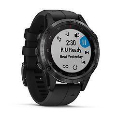 Garmin fenix 5 Plus Smartwatch  (Sapphire Black with Black Band)