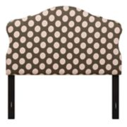 Right2Home Dana Polka-Dot Padded Headboard
