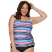 Plus Size Croft & Barrow® Ruched Tankini Top