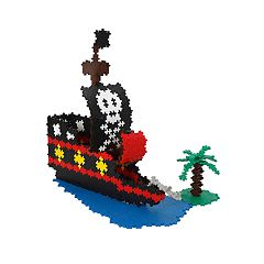 Plus-Plus 1060-Piece Pirate Ship Building Set