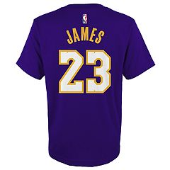 Boys 8-20 Los Angeles Lakers Lebron James Name & Number Tee