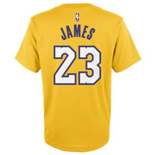 <p>Boys 8-20 Los Angeles Lakers Lebron James Name & Number Tee</p>