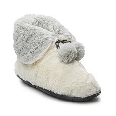 Women's Cuddl Duds Teddy Snuggle Up Bootie Slippers