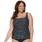 Plus Size Croft & Barrow® Underwire Tankini Top
