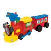 Disney's Mickey Mouse 2-in-1 Ride-on Choo Choo Train with Caboose & Tracks by Kiddieland