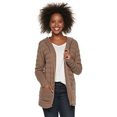 Women's SONOMA Goods for Life™ Stripe Stitch Hooded Cardigan