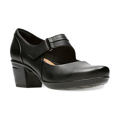 Clarks Emslie Lulin Women's Ortholite Mary Janes Heels