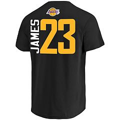 a025300f9a72 Men's Los Angeles Lakers Lebron James Name & Number Tee