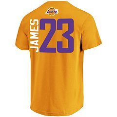 Men's Los Angeles Lakers Lebron James Name & Number Tee