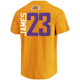 <p>Men's Los Angeles Lakers Lebron James Name & Number Tee</p>