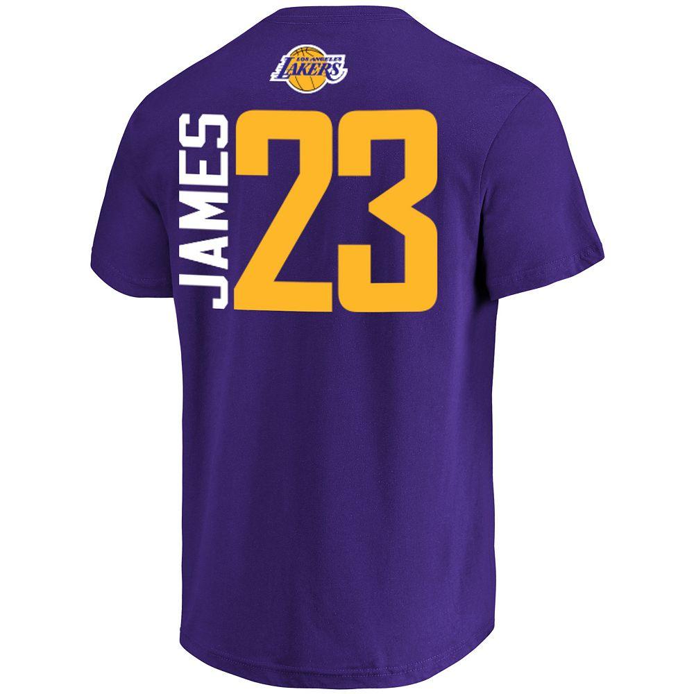 Men's Los Angeles Lakers Lebron James Name & Number Tee