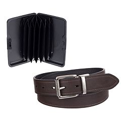Men's Columbia Reversible Belt & RFID-Blocking Security Wallet Set