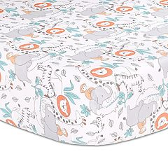 Baby The Peanut Shell Safari Adventure Fitted Crib Sheet