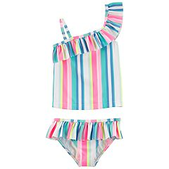 Toddler Girl Carter's Striped 2-piece Swimsuit
