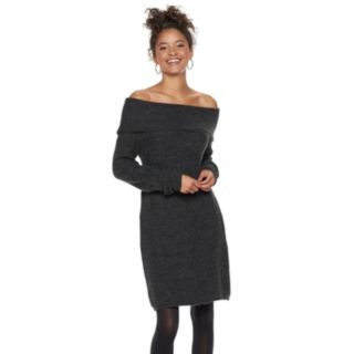 Juniors' Candie's® Off The Shoulder Sweater Dress