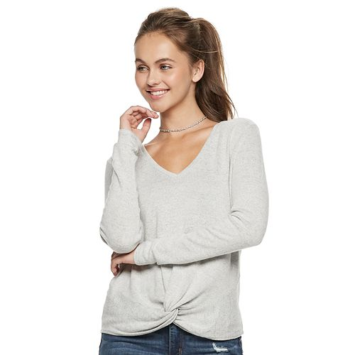 Juniors' Candie's® Twist-Front Top