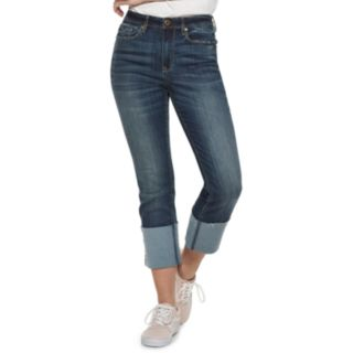 Juniors' American Rag High-Waisted Cuffed Slim Ankle Jeans