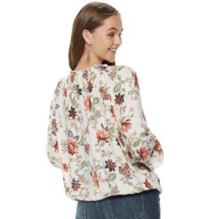 Juniors' American Rag Floral Peasant Blouse