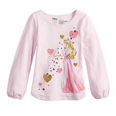 Disney's Sleeping Beauty Aurora Toddler Girl Glittery Graphic Tee by Jumping Beans®