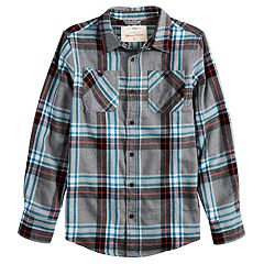 Boys 8-20 Urban Pipeline® Plaid Flannel Button-Down Shirt.