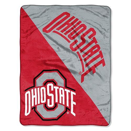 """Ohio State Buckeyes 60"""" x 46"""" Raschel Throw Blanket"""