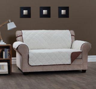 Jeffrey Home Sinclair Sherpa Reversible Sofa Furniture Cover Slipcover