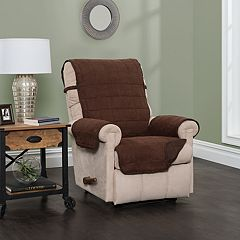 Jeffrey Home Sussex Solid Reversible Recliner Furniture Cover Slipcover