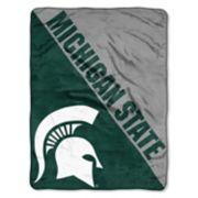 """Michigan State Spartans 60"""" x 46"""" Raschel Throw Blanket"""
