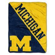 "Michigan Wolverines 60"" x 46"" Raschel Throw Blanket"