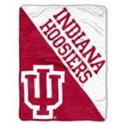 """Indiana Hoosiers 60"""" x 46"""" Raschel Throw Blanket"""