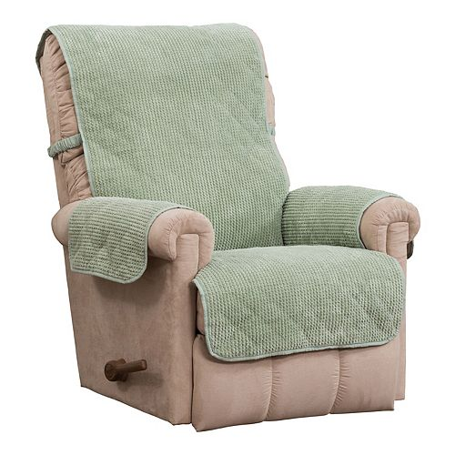 Jeffrey Home Ripple Plush Secure Fit Recliner Furniture Cover Slipcover