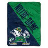 """Notre Dame Fighting Irish 60"""" x 46"""" Raschel Throw Blanket"""