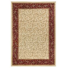 KHL Rugs Westminster Transitional Scroll Floral Rug