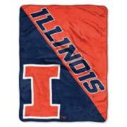 """Illinois Fighting Illini 60"""" x 46"""" Raschel Throw Blanket"""