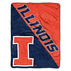 Illinois Fighting Illini 60' x 46' Raschel Throw Blanket